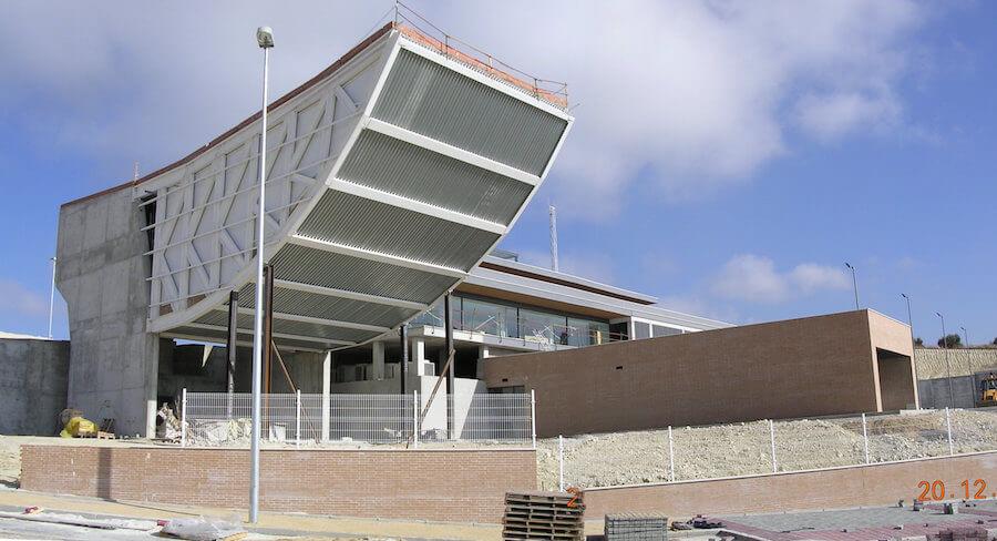 Proyecto de Centro Tecnológico de la Madera en Lucena, Córdoba. Sala de Conferencia con 20 metros de voladizo